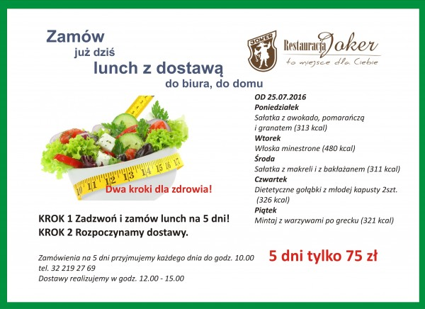 MENU LUNCH OD 25.07